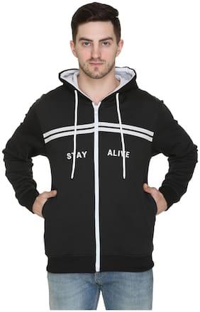 Caracas Men Black Hooded Sweatshirt