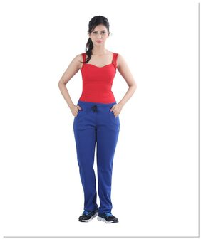 Casual Blue Women Track Pants by Bfly