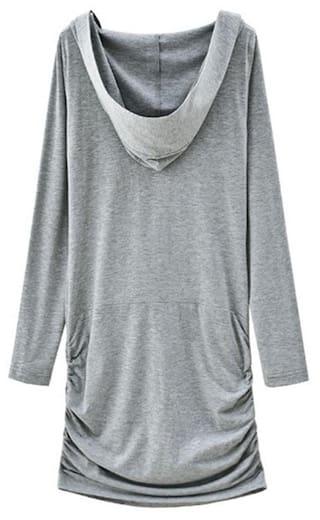 Hooded Striped Dress Sleeves Long Bazaar For Faux Twinset International Casual Splicing Women xwHqFYxI