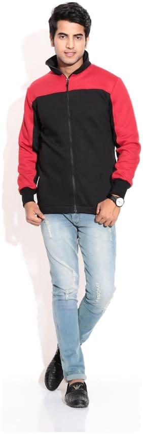 Men Fleece Long Sleeves Bomber Jacket