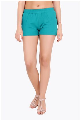 Cation Blue Solid Shorts