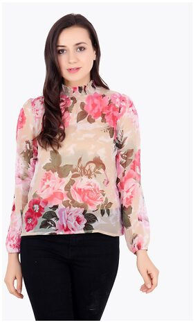 Cation Multicolor Printed Top