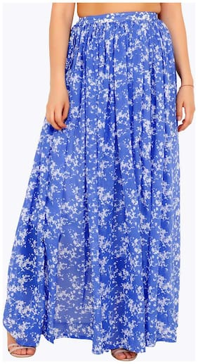 Cation Printed A-line skirt Maxi Skirt - Purple