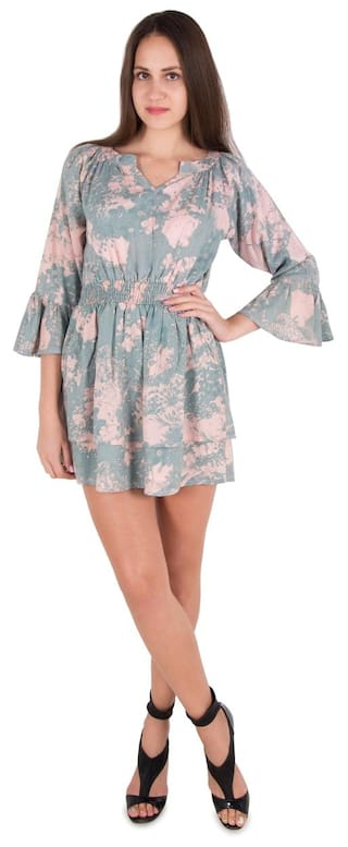 Multi Sleeves Color Bell Cattleya Dress dUw0Anq