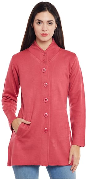 Cayman Women Solid Regular fit Coat - Pink