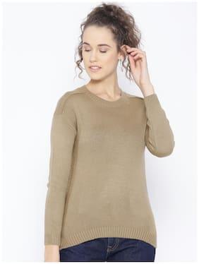 Cayman Women Solid Pullover - Beige