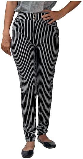 CH CRUX & HUNTER modal lycra womens stripe legging jegging