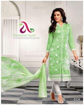 chanderi cotton embroidered salwar suit
