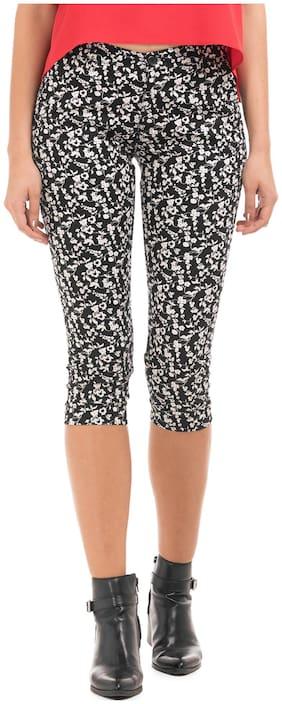 CHEROKEE Women Regular fit Mid rise Printed Regular pants - Black & White