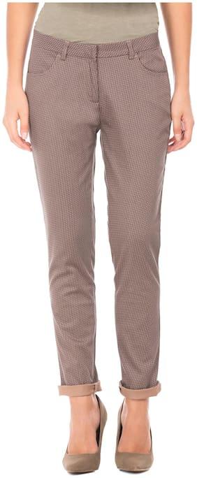 CHEROKEE Women Regular fit Mid rise Printed Regular trousers - Brown