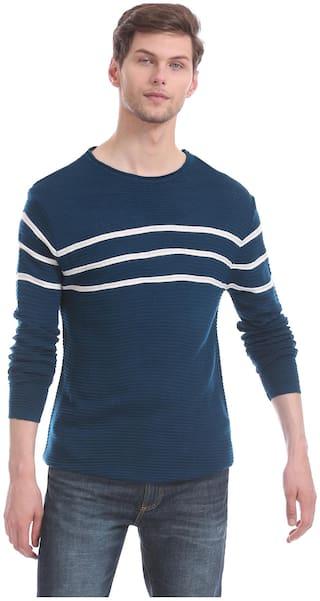 CHEROKEE Men Blue Round neck Pullover