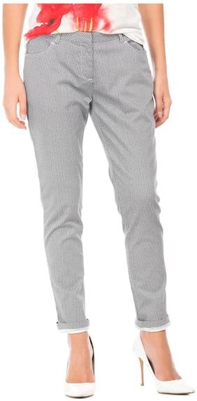 CHEROKEE Women Regular fit Mid rise Printed Regular trousers - Grey