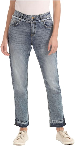 CHEROKEE Women Regular Fit Mid Rise Solid Jeans - Red