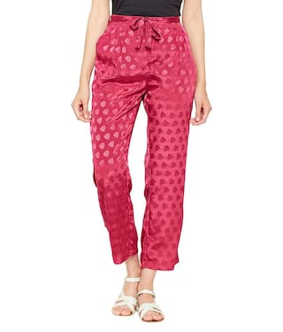 Pants Printed Cherry Tie Dobby Knot Red aE11qZxX