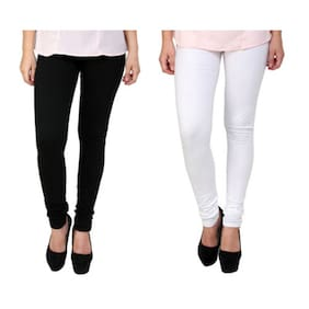 Women's Black And White Pack Of 2 Legging