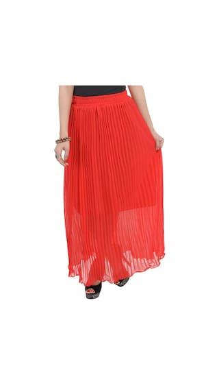 Long Wrinkled Chiffon Skirt i40eS