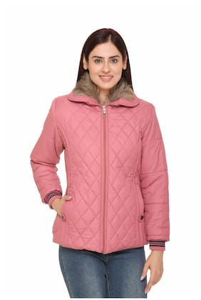 Chill Fighter Women Solid Regular Jacket - Pink