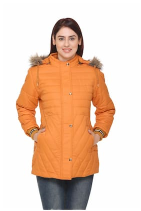 Chill Fighter Women Solid Regular Jacket - Orange