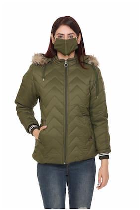 Chill Fighter Women Solid Regular Jacket - Green