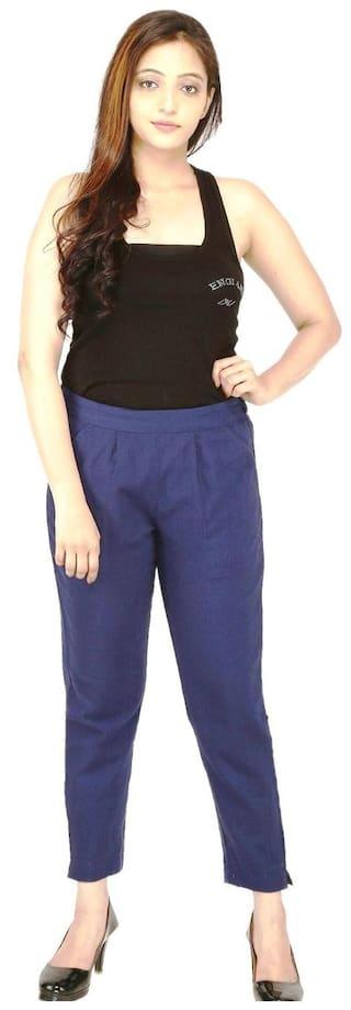 CHINMAYA Regular Fit Women Trousers & pants (Blue)