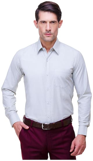 Chokore Men Slim fit Formal Shirt - White