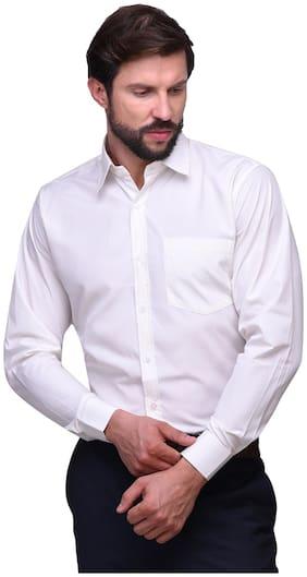 Chokore Men Slim Fit Formal Shirt - White