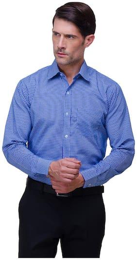 Chokore Men Slim Fit Formal Shirt - Blue