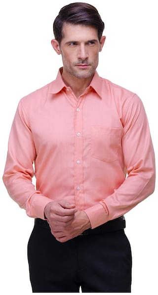 Chokore Men Slim Fit Formal Shirt - Pink
