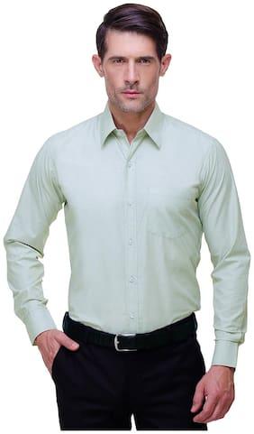 Chokore Men Slim Fit Formal Shirt - Green