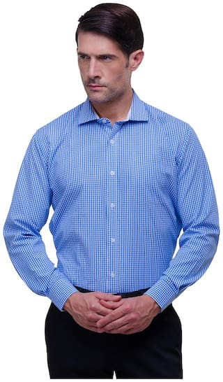 Chokore Men Slim Fit Formal Shirt - Blue