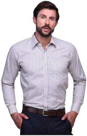 Chokore Men Regular Fit Formal Shirt - White