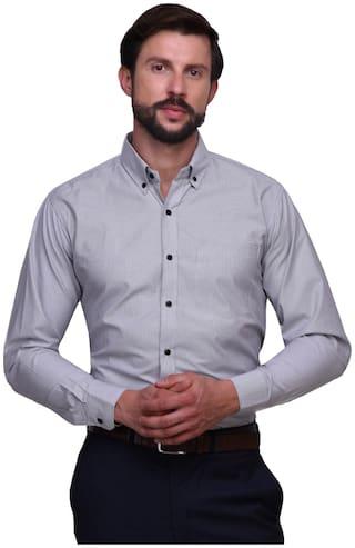 Chokore Men Slim Fit Formal Shirt - Grey