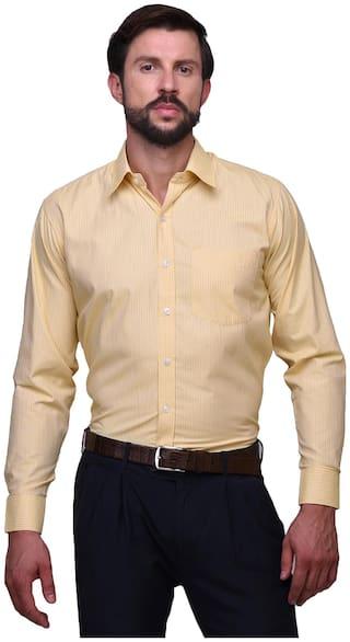 Chokore Men Slim fit Formal Shirt - Yellow