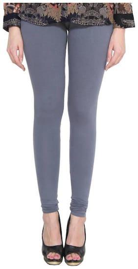 Crospike Cotton & Lycra Leggings - Grey