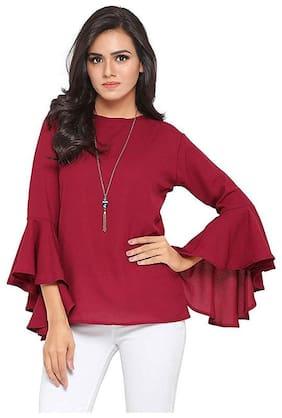 Cifer Women Solid Regular tunic - Maroon