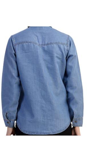 003 blue Shirt Denim light Classic wI87B7
