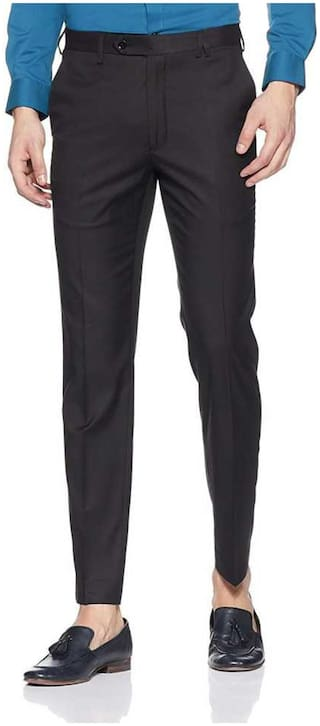 CLASSIO FASHION Men Solid Regular Fit Formal Trouser - Black