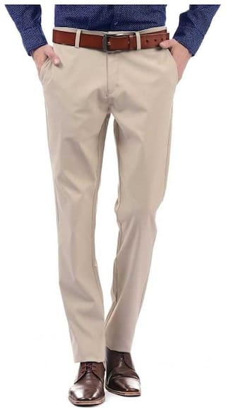 CLASSIO FASHION Men Solid Slim Fit Formal Trouser - Beige