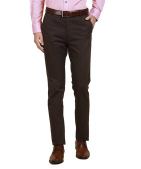CLASSIO FASHION Brown Slim Fit Formal Trousers For Men