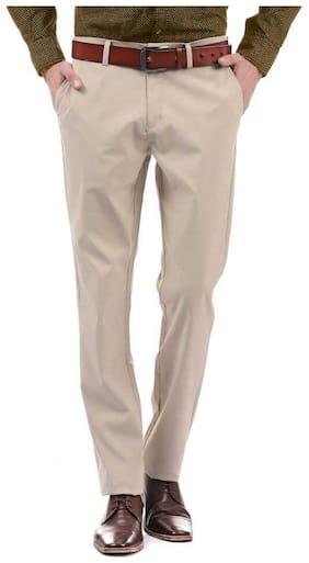 CLASSIO FASHION Beige Slim Fit Formal Trousers For Men