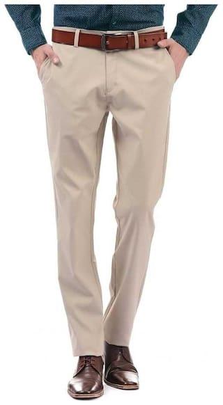 CLASSIO FASHION Men Solid Slim Fit Formal Trouser - Beige
