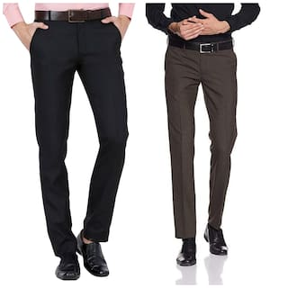 b0ac03f75688 Buy CLASSIO FASHION Blue Slim Fit Formal Trousers For Men Online at ...