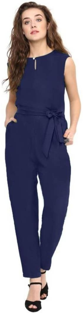 ForeverYoung Solid Jumpsuit - Navy