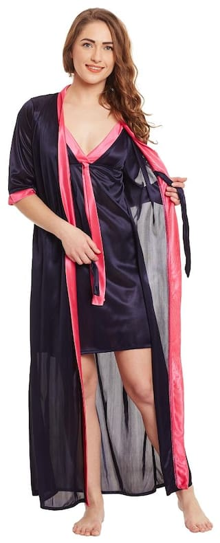 Buy Claura Designer Nighty With Robe Online at Low Prices in India ... 507f13b4e