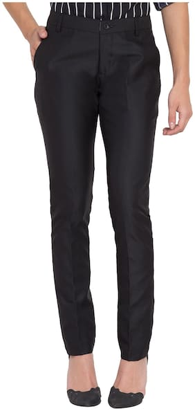 Cliths Women Black Slim fit Regular pants