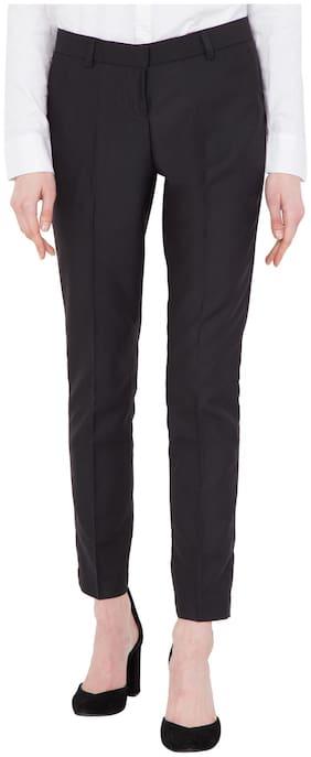 Cliths Women Black Slim fit Regular trousers
