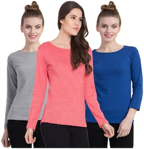 Women Full Sleeves T Shirt ,Pack Of 3