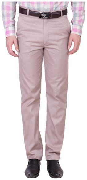 Cliths Men's Cotton Blend Formal Trouser