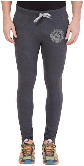 Cliths Men's Dark Grey Zeep Printed Sportswear Lower