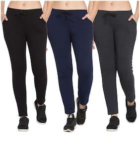 Women Slim Fit Track Pants ,Pack Of 3